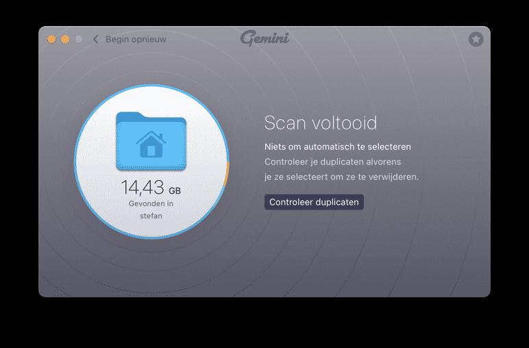Gemini dubbele bestanden verwijderen mac