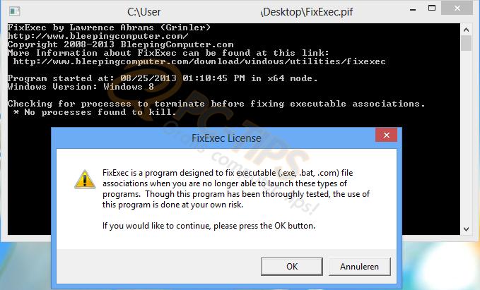EXE bestanden openen niet meer