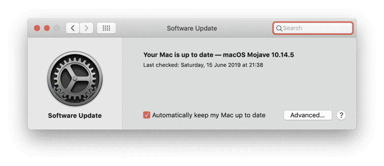 software updaten mac