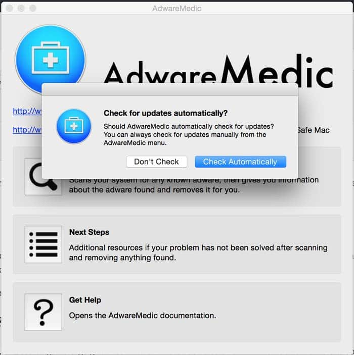 verwijder Adware uit Apple Mac OSX Chrome, Firefox en Safari