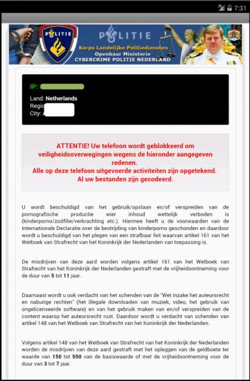 Politievirus verwijderen van Android telefoon (instructie)