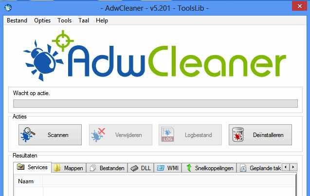 adwcleaner scannen