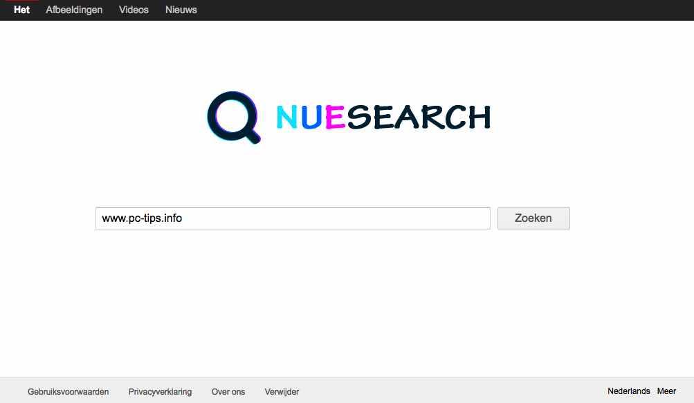 NueSearch.com – Gratis verwijder instructie