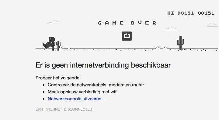 Speel de Google Chrome T-Rex Game!