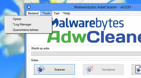 malwarebytes-adwcleaner-opties