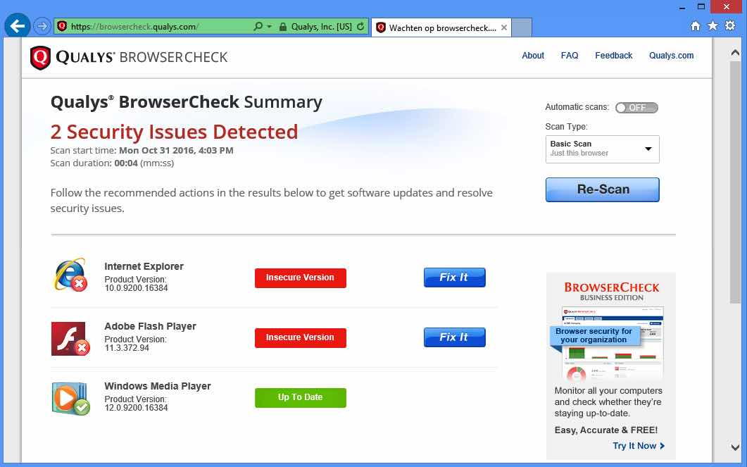 qualys-browser-check-vind-insecure-versies