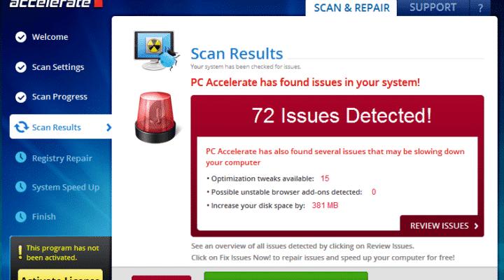 PC Accelerate Pro verwijderen – Potentieel Ongewenst Programma (PUP)