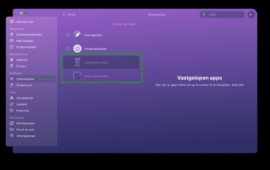CleanMyMac optimalisatie