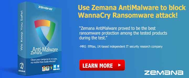 Download Zemana Anti Malware en voorkom of verwijder WannaCry