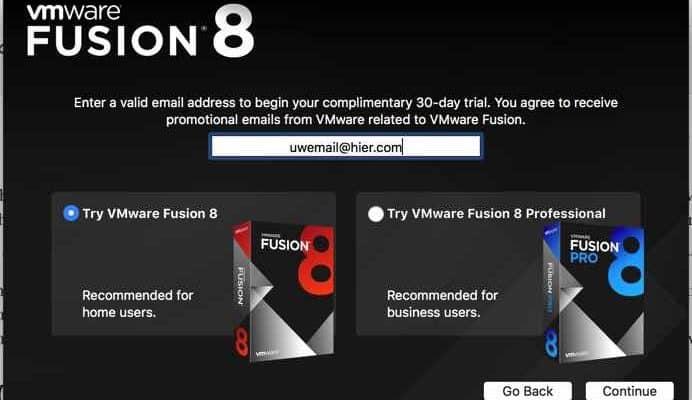 VMWare Fusion (Mac OS) – Maak een nieuw Virtual Machine