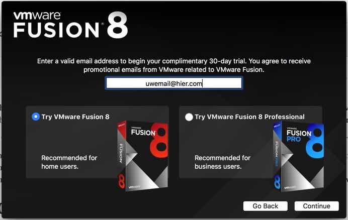 VMWare Fusion installeren MacOS