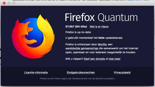 Firefox Quantum informatie