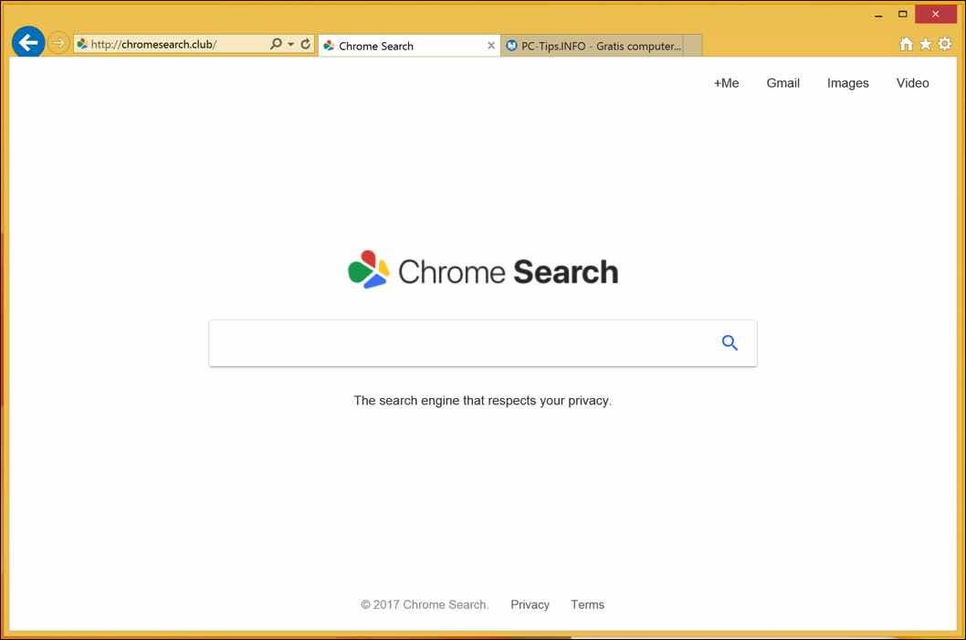 chromesearch verwijderen
