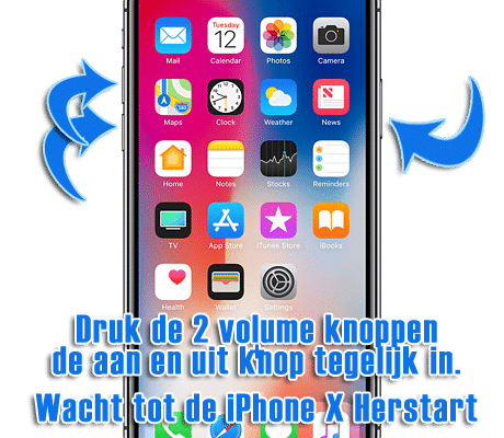 iPhone X hard reset uitvoeren (iPhone 10 resetten) – PC-Tips.info