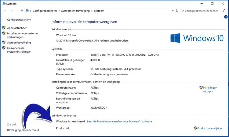is-windows-geactiveerd-opzoeken