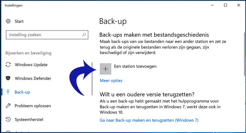 windows-10-backup-station-toevoegenwindows-10-backup-station-toevoegen