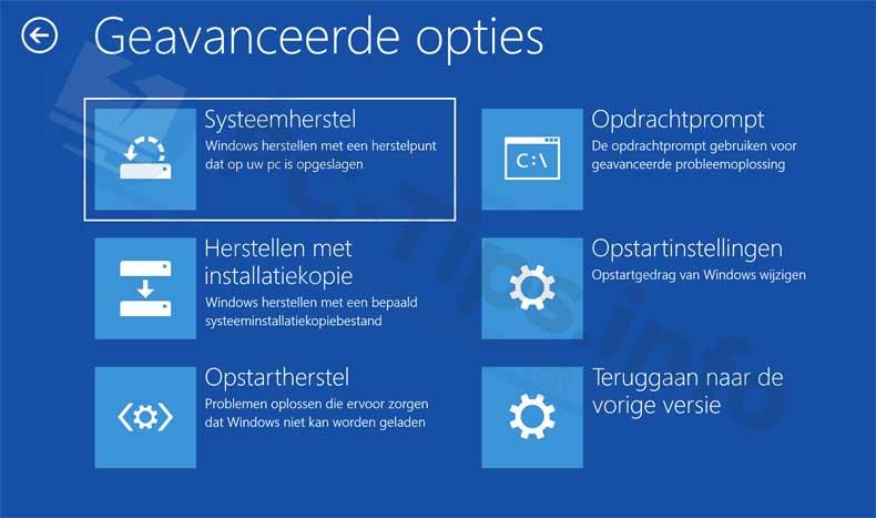 windows-10-herstel-geavanceerde-opstart-opties