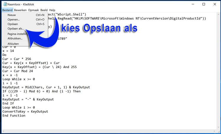 windows-licentie-code-opzoeken-notepad