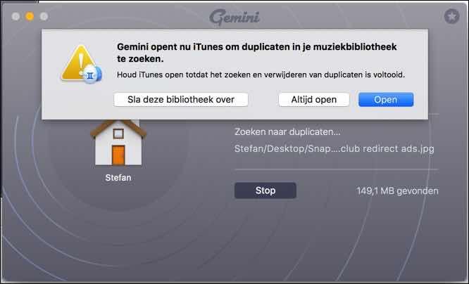 gemini 2 duplicaten zoeken op uw mac