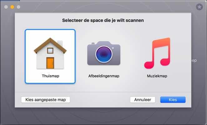 gemini thuismap scannen mac
