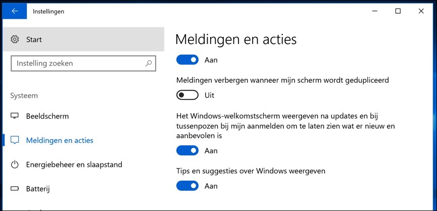 tips en suggesties over windows uitschakelen