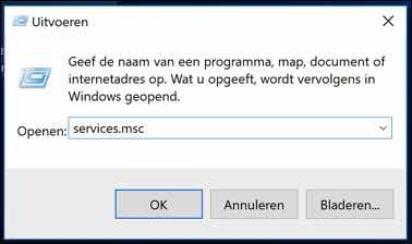 windows 10 update services stoppen