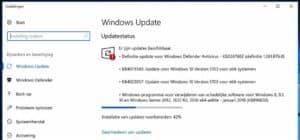 windows 10 updates installeren