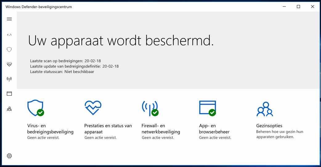 Windows Defender Antivirus in of uitschakelen in Windows 10