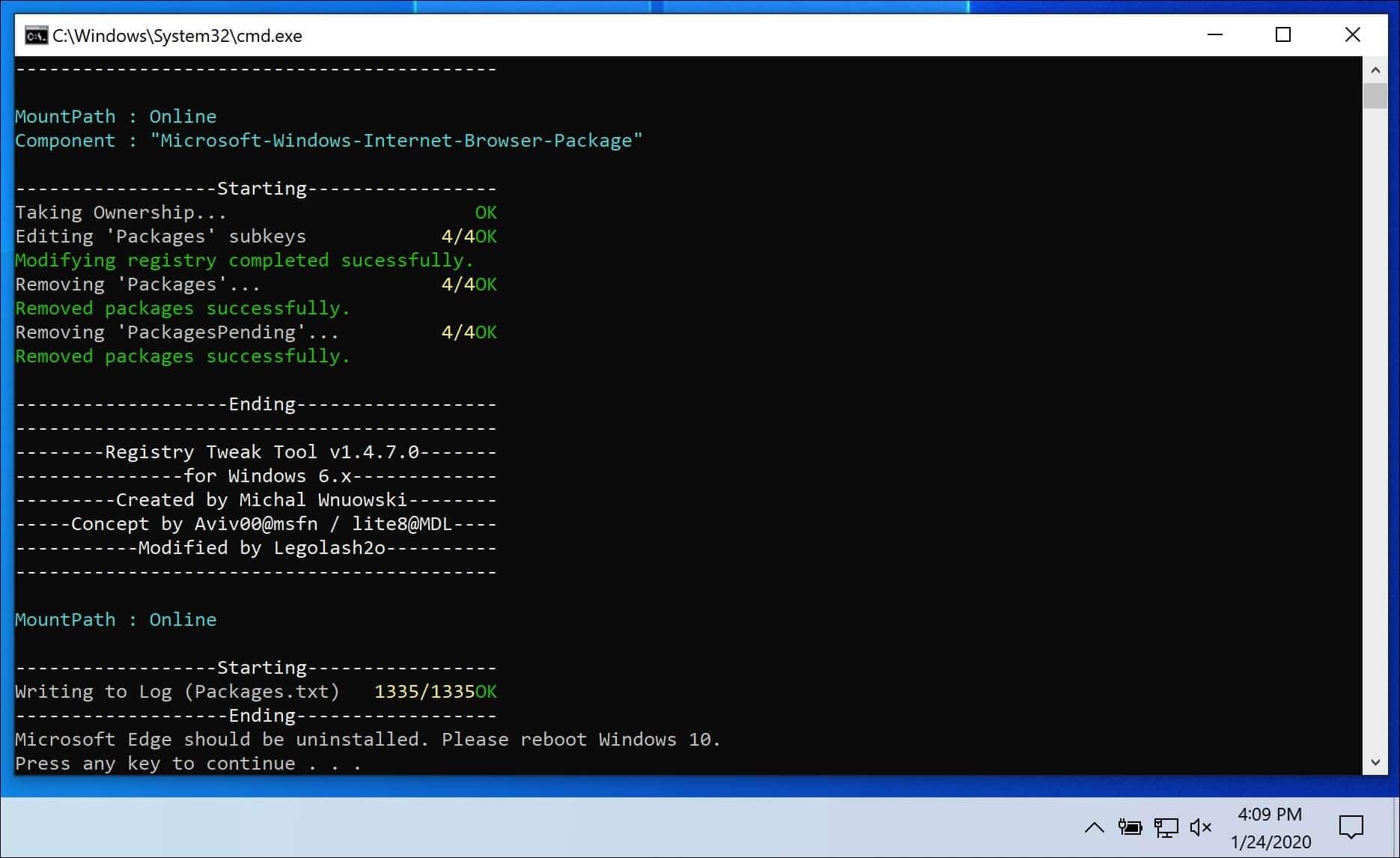 Microsoft edge verwijderen uit windows 10