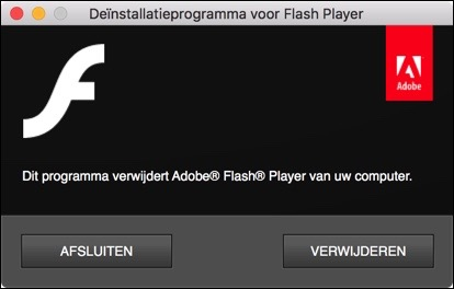 Adobe Flash Player verwijderen Mac