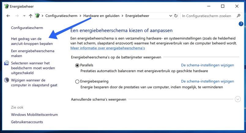 gedrag aan uit knoppen windows 10 wijzigen