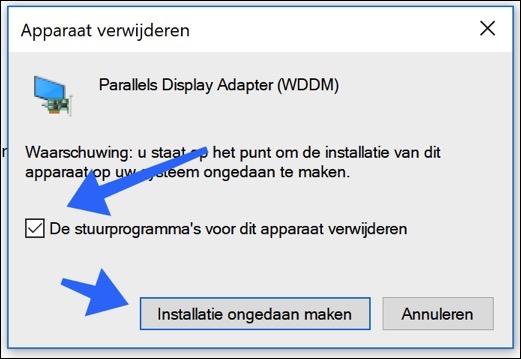 stuurprogramma verwijderen windows 10