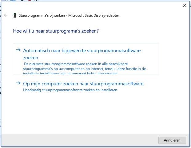 stuurprogrammas zoeken windows 10
