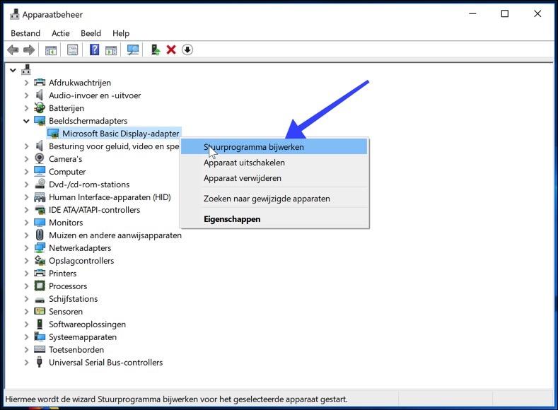 windows 10 stuurprogramma bijwerken