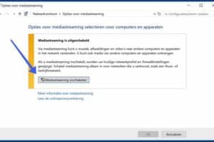 Mediastreaming inschakelen windows 10