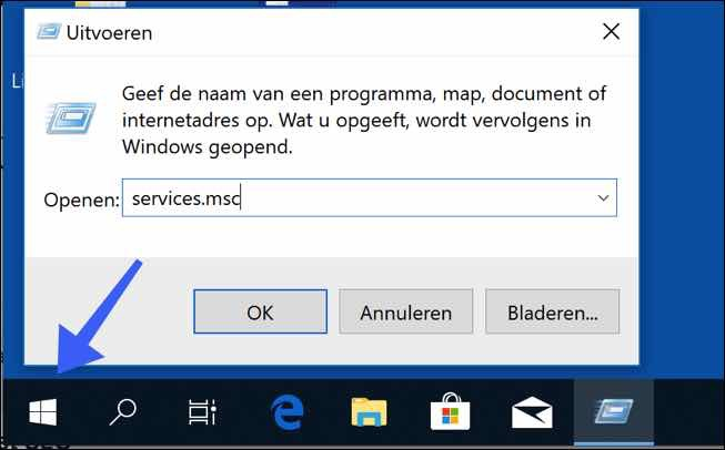 services openen windows 10