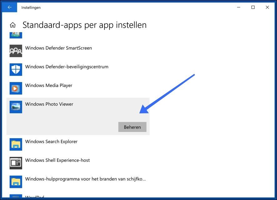 standaard-apps per app instellen windows 10