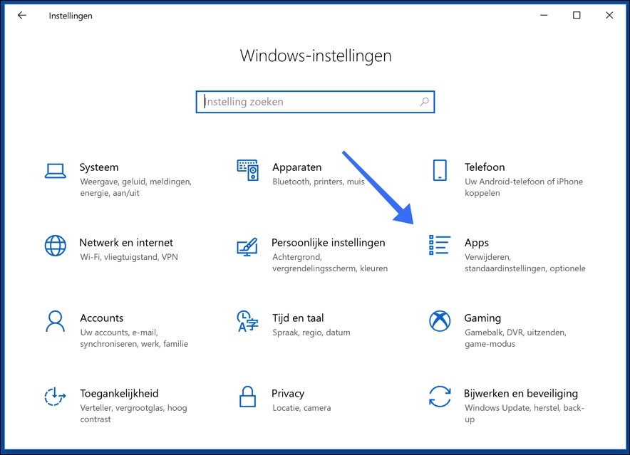 windows 10 open apps