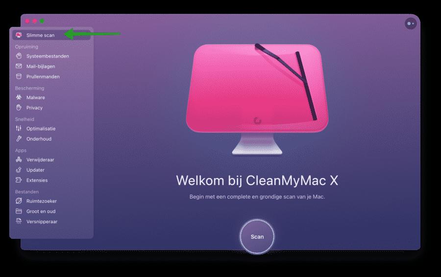 Slimme scan uitvoeren met CleanMyMac