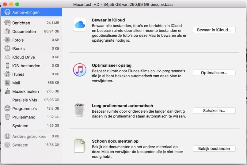 aanbevelingen tool voor mac