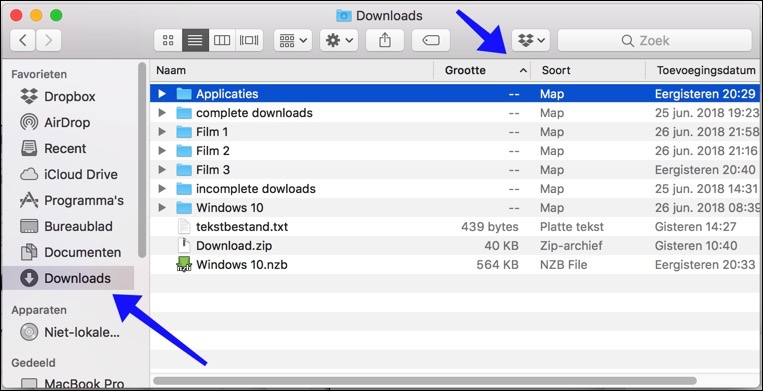 downloads folder opschonen mac