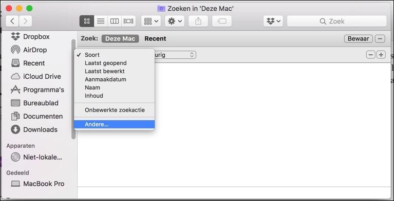 grote bestanden zoeken mac