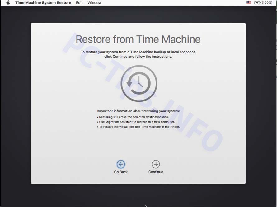 mac herstellen time machine backup