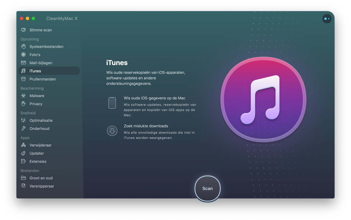 cleanmymac - itunes