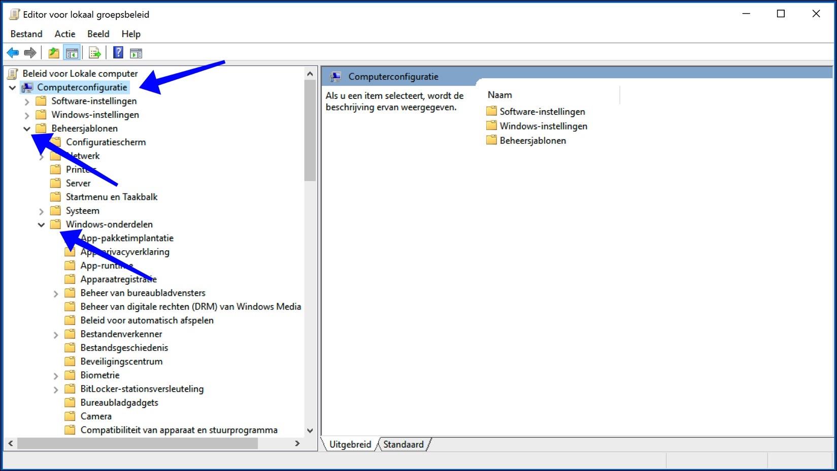 groepsbeleid editor windows 10
