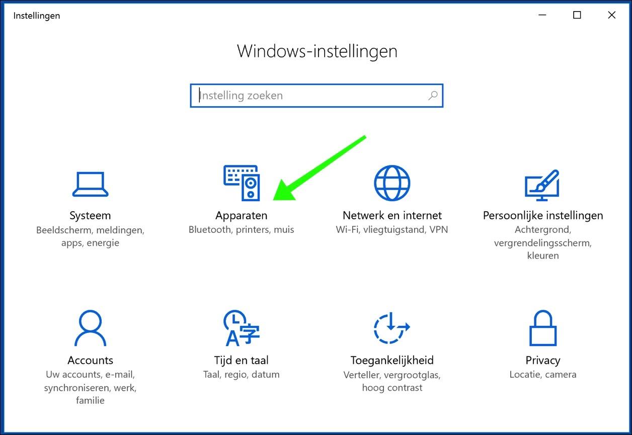 windows 10 apparaten beheren