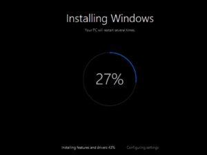 windows 10 wordt opnieuw geinstalleerd