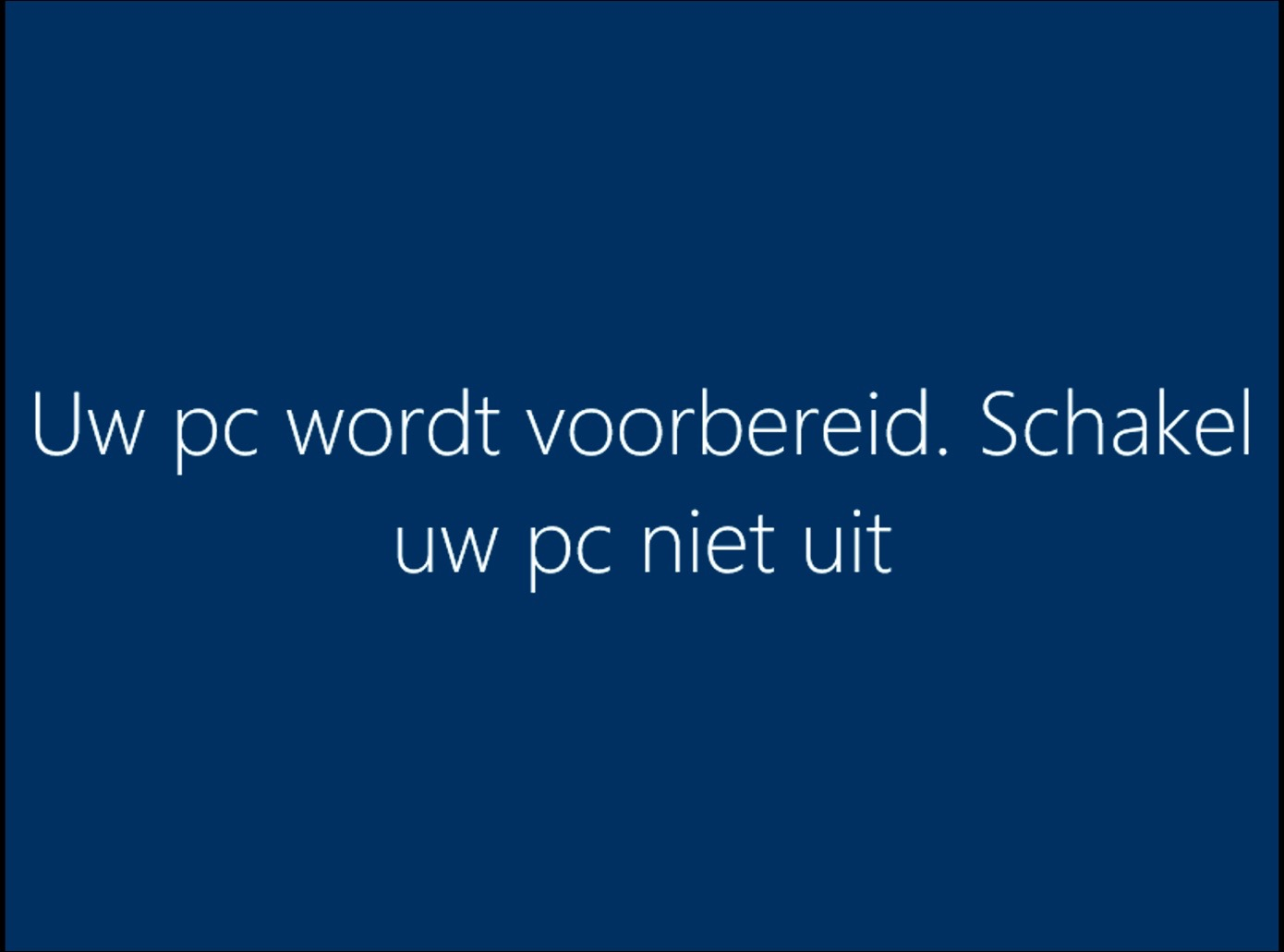 windows 10 wordt voorbereid