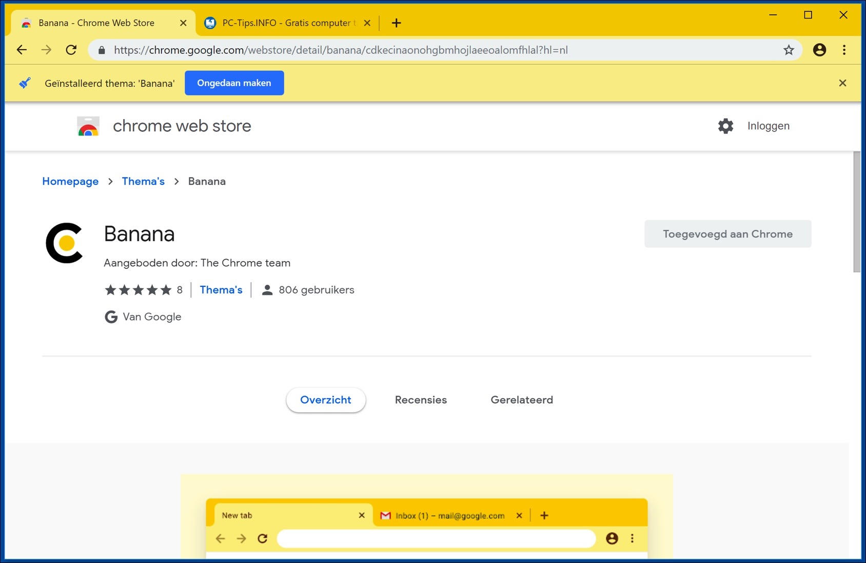thema verwijderen google chrome