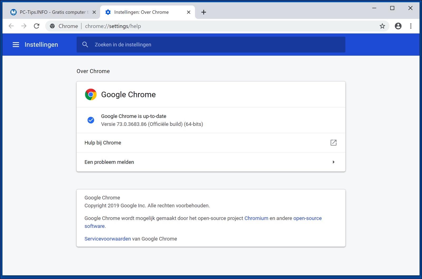 google chrome bijwerken laatste versie